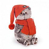 Мягкая игрушка Budi Basa Кот Басик в вязаной шапке и шарфе, 25 см