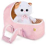 Мягкая игрушка Budi Basa Кошечка Ли-Ли Baby в люльке, 20 см