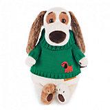 Мягкая игрушка Budi Basa Собака Бартоломей в зеленом свитере, 27 см
