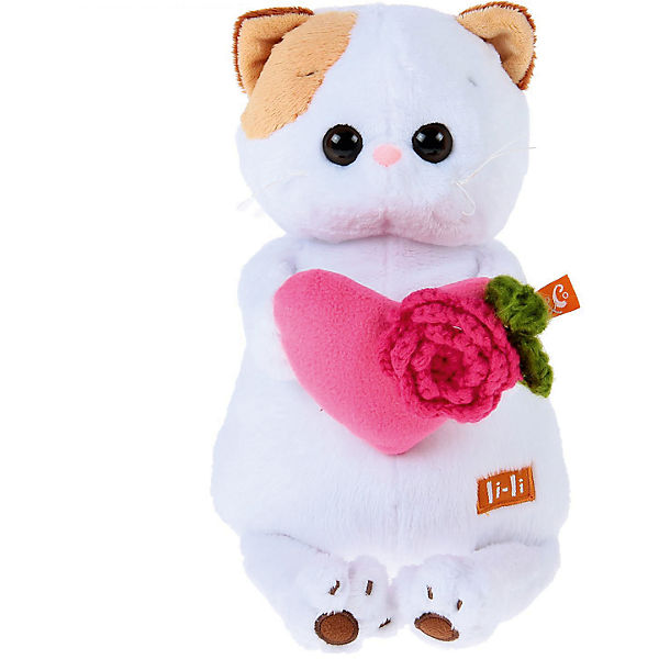Мягкая игрушка Budi Basa Кошечка Ли-Ли с розовым сердечком, 24 см