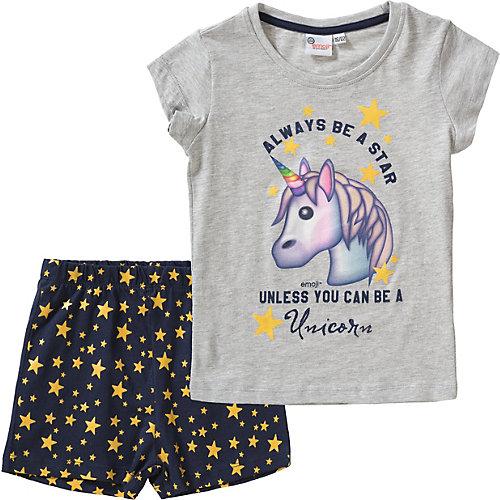 emoji Schlafanzug Gr. 128/134 Mädchen Kinder | 04052384351014