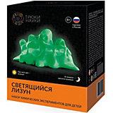 """Набор для опытов по химии Трюки науки """"Светящийся лизун"""" (зеленый/зеленый)"""