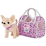 "Мягкая игрушка Simba Chi-Сhi Love Собачка Чихуахуа ""Путешественница"" с сумочкой, 20 см"