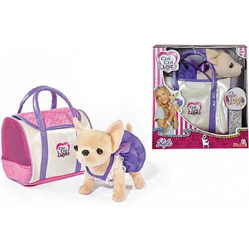 Мягкая игрушка Simba Chi-Сhi Love Собачка Чихуахуа в платье с сумочкой, 20 см от Simba