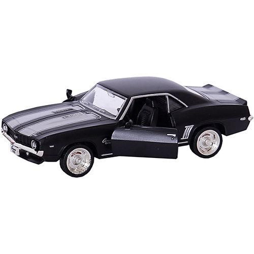 """Металлическая машинка RMZ City """"Chevrolet Camaro 1969"""" 1:32, серый матовый от RMZ City"""