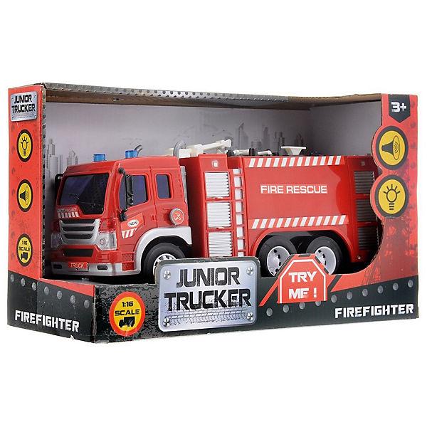 """Пожарная машина Dave Toys """"Junior Tracker"""" 1:16, свет, звук"""