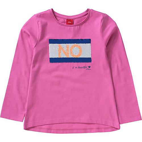 S.Oliver,s.Oliver Baby Langarmshirt mit Wendepailletten REG Gr. 116/122 Mädchen Kinder   04055268246147