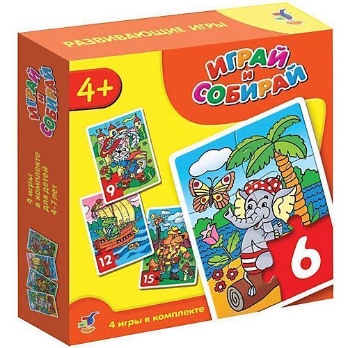 Играй и собирай. Арт. 2940 (кот, пес, крокодил, слон) от Дрофа-Медиа