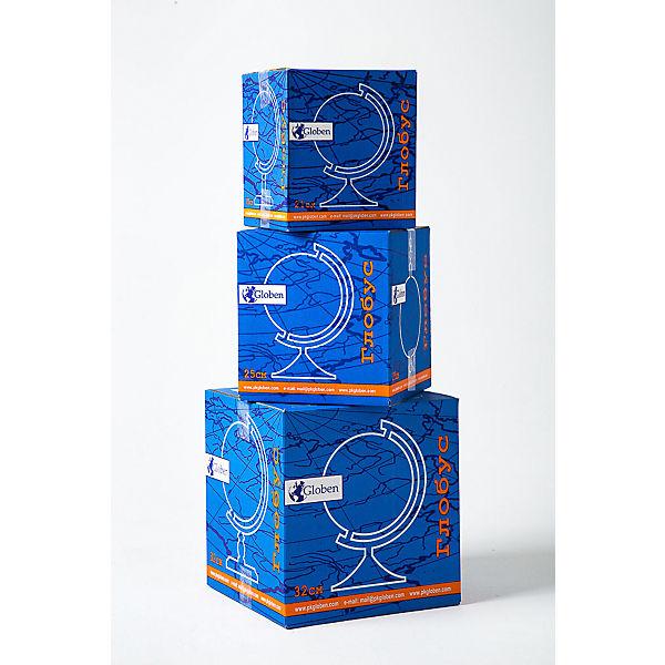 Глобус Земли физико-политический с подсветкой 210мм