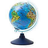 Глобус Зоогеографический (Детский) с подсветкой от батареек