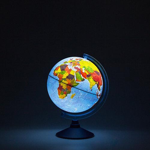 Глобус Земли физико-политический с подсветкой от батареек от Globen