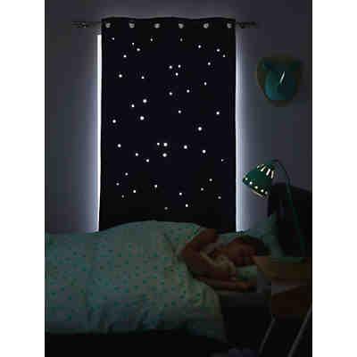 vorhang sterne inkl b gelband grau wei 140 x 245 cm 2. Black Bedroom Furniture Sets. Home Design Ideas