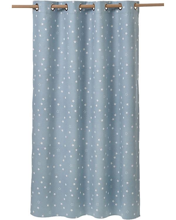 Verdunkelungsvorhang mit Sternen, blau, 135 x 260 cm, vertbaudet