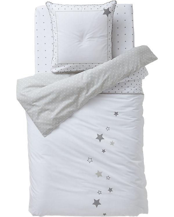 Wendebettwäsche Sternenregen Weißbeige 140 X 200 Cm Vertbaudet