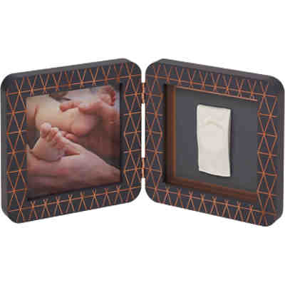 Gipsabdruck Set mit 2-tlg. Bilderrahmen My Baby Touch, Copper Edition Black Simple (Ltd.Ed. 2018)