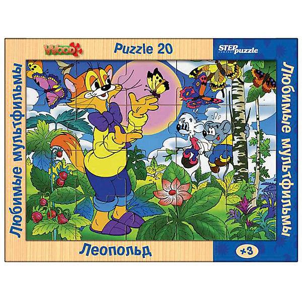 """Пазл Step Puzzle """"Любимые мультфильмы"""" Леопольд, 20 элементов"""