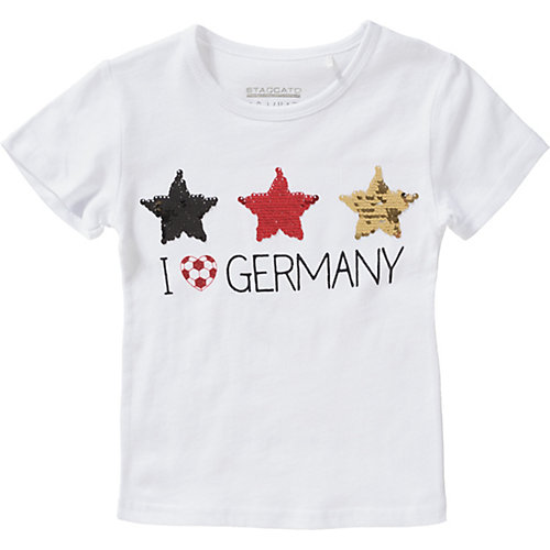 T-Shirt mit Wendepailletten , Fußball Gr. 128/134 Mädchen Kinder | 04060836305850