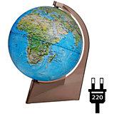 Глобус Земли «Двойная карта» с подсветкой на треугольнике