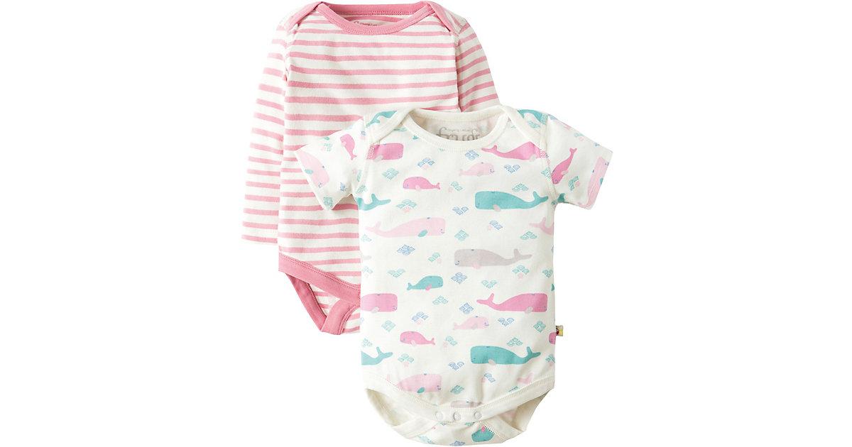 Frugi · Bodys Doppelpack , Organic Cotton Gr. 56 Mädchen Baby