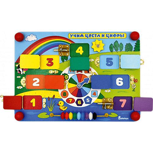"""Бизиборд Alatoys """"Учим цифры и цвета"""" от Alatoys"""