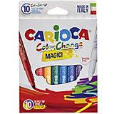 Набор перекрашивающих фломастеров CARIOCA MAGIC, 10 шт., в картонной коробке с европодвесом