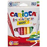 Набор стирающихся фломастеров CARIOCA MAGIC, 10 шт., в картонной коробке с европодвесом