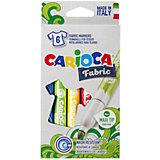 Набор фломастеров по текстилю CARIOCA, 6 цв., в картонной коробке с европодвесом