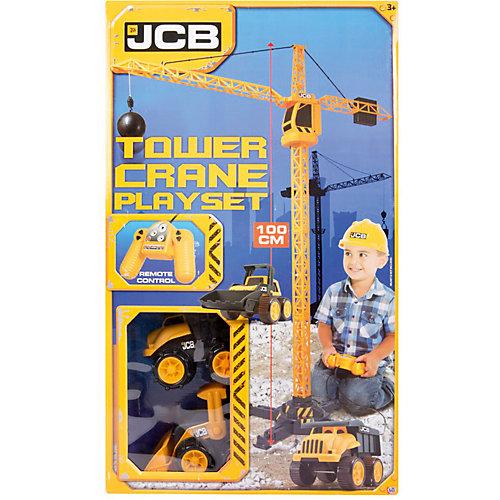 "Строительный кран HTI ""Строительная техника JCB"" на д/у + 2 машинки, 100 см от HTI"