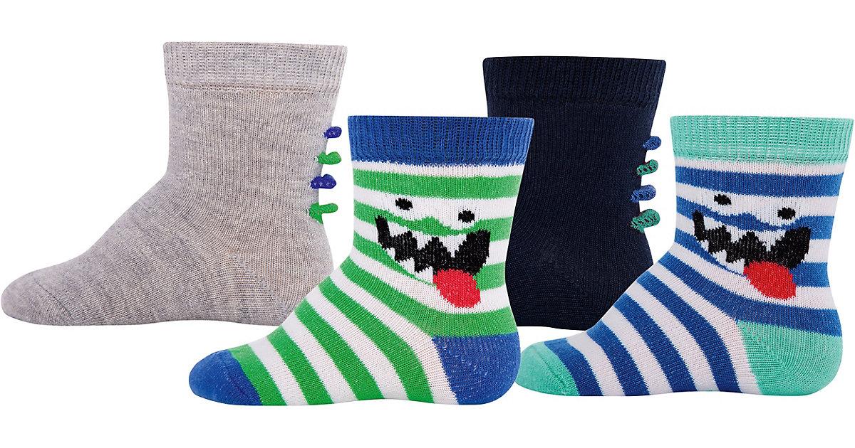 Baby Socken 4er-Pack, , Monster Gr. 19-22 Junge...