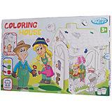 Игровой картонный домик -раскраска, Mochtoys