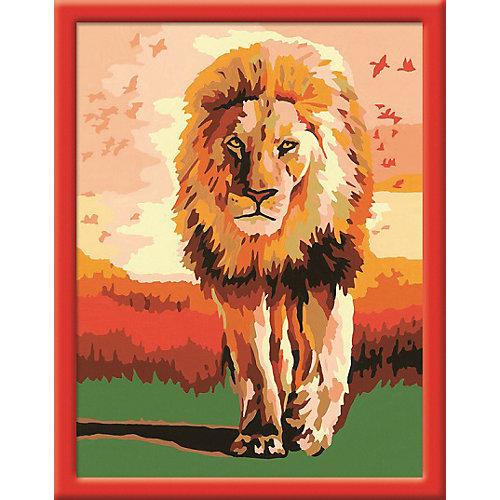 Раскрашивание по номерам «Гордый лев» Размер картинки – 18*24 см от Ravensburger