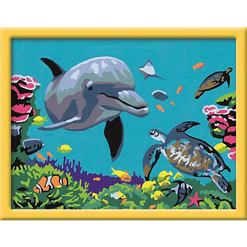 Раскрашивание по номерам «Подводный мир» Размер картинки – 24*18 см от Ravensburger