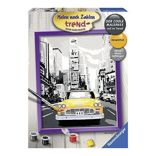 Раскрашивание по номерам «Такси в Нью-Йорке» Размер картинки – 24*30 см от Ravensburger