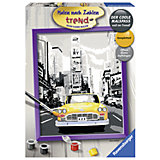 Раскрашивание по номерам «Такси в Нью-Йорке» Размер картинки – 24*30 см