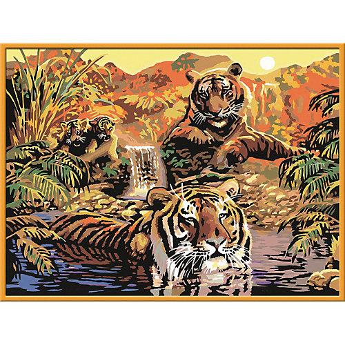 Раскрашивание по номерам «Тигры» Размер картинки – 40*30 см от Ravensburger