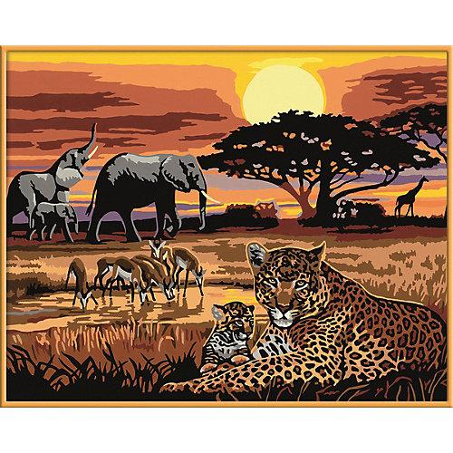 Раскрашивание по номерам «Африка» Размер картинки – 40*30 см от Ravensburger