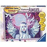 Раскрашивание по номерам «Фантастический ангел» - 30*40см