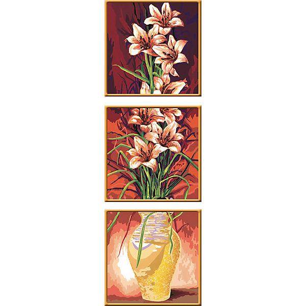 Раскрашивание по номерам «Цветы» Размер картинки – 30*90 см