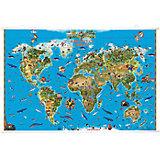 """Карта Мира """"Обитетели Земли"""" на рейках"""
