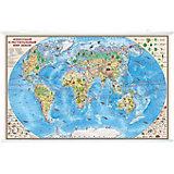"""Карта """"Животный и растительный мир Земли"""" 1:35М на рейках"""