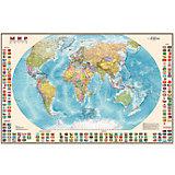 Карта Мира, Политическая с флагами 1:40М
