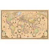 Карта Мира, Политическая, Стиль Ретро, 1:25М