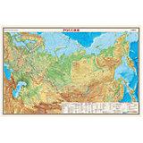 Карта России, Физическая, 1:9,5М
