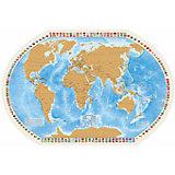 """Карта со скрейч-слоем """"Мир моих Путешествий"""""""