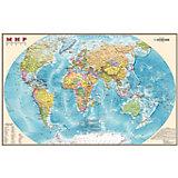 Настольная карта Мира, политическая, 1:55М, двухсторонняя