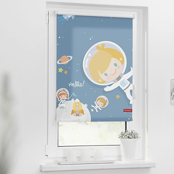 rollo klemmfix ohne bohren verdunkelung astronaut 90 x 150 cm lichtblick mytoys. Black Bedroom Furniture Sets. Home Design Ideas
