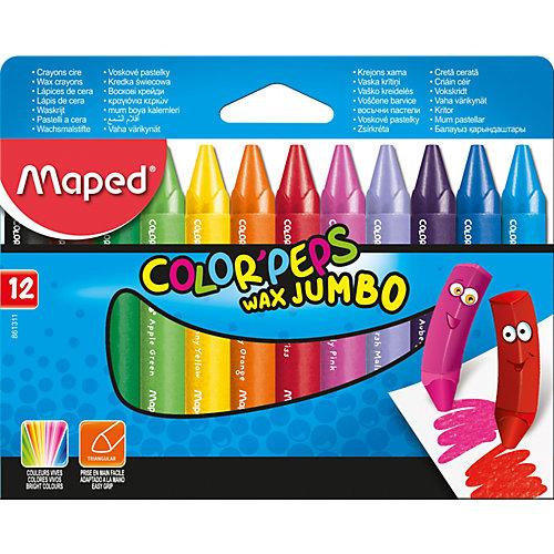 Восковые мелки COLOR'PEPS JUMBO, 12 цветов, Maped от Maped