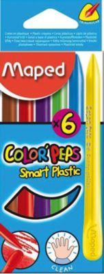 Пластиковые мелки COLOR'PEPS, 6 цветов, Maped