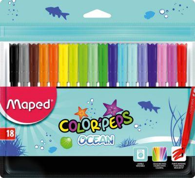 Фломастеры COLOR'PEPS OCEAN, 18 цветов, Maped