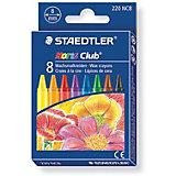 Мелки восковые Noris Club, 8 цветов, d=8 мм, Staedtler